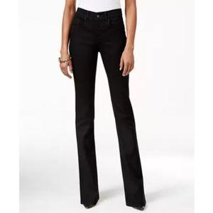 Style & Co size 12 long boot leg jeans, black/noir